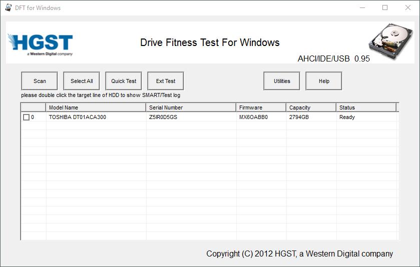 Hitachi Drive Fitness Test