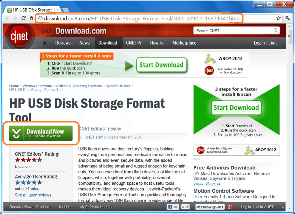 Как скачать HP USB Disk Format Tool