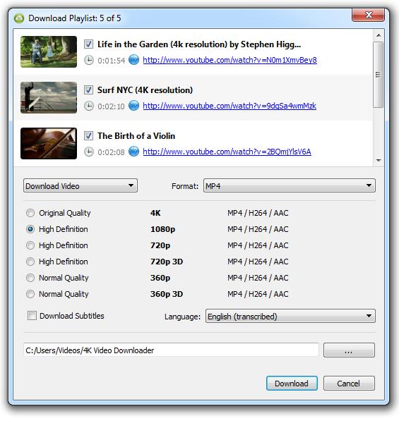 Бесплатное декстопное приложение 4K Video Downloader позволяет загружать видео с ютуба в 4К разрешении.