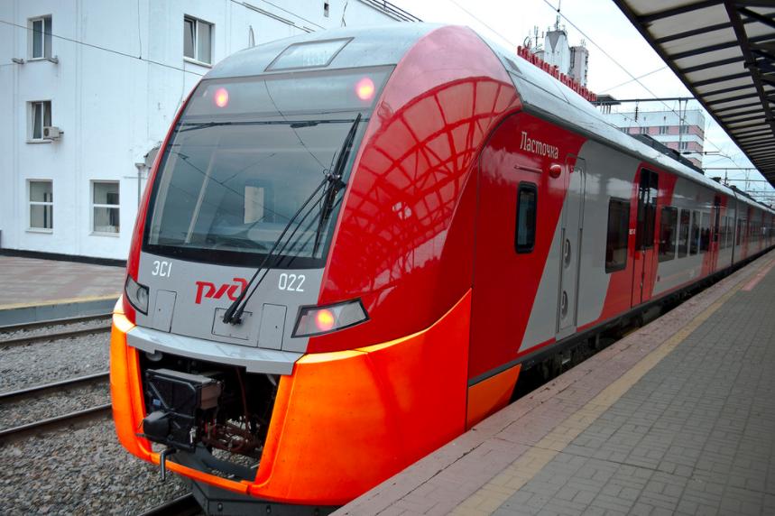 Электропоезд, курсирующий по МЦК