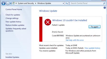 Ошибка 80070002 в Windows: Причина и методы решения