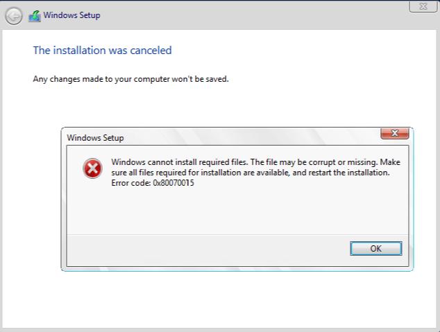Ошибка  0x80070015 в Windows 10 – методы решения