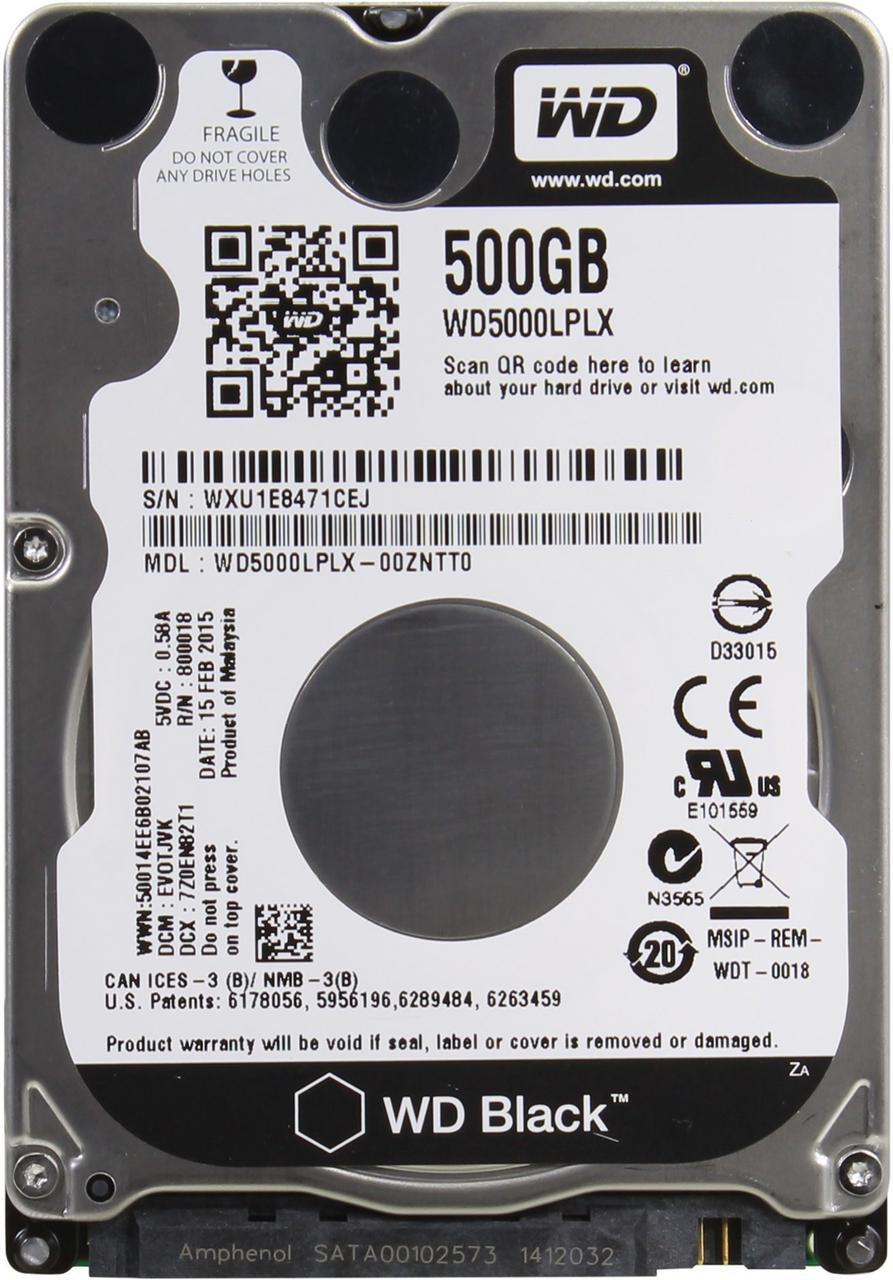 Western Digital WD Black 500 GB (WD5000LPLX)