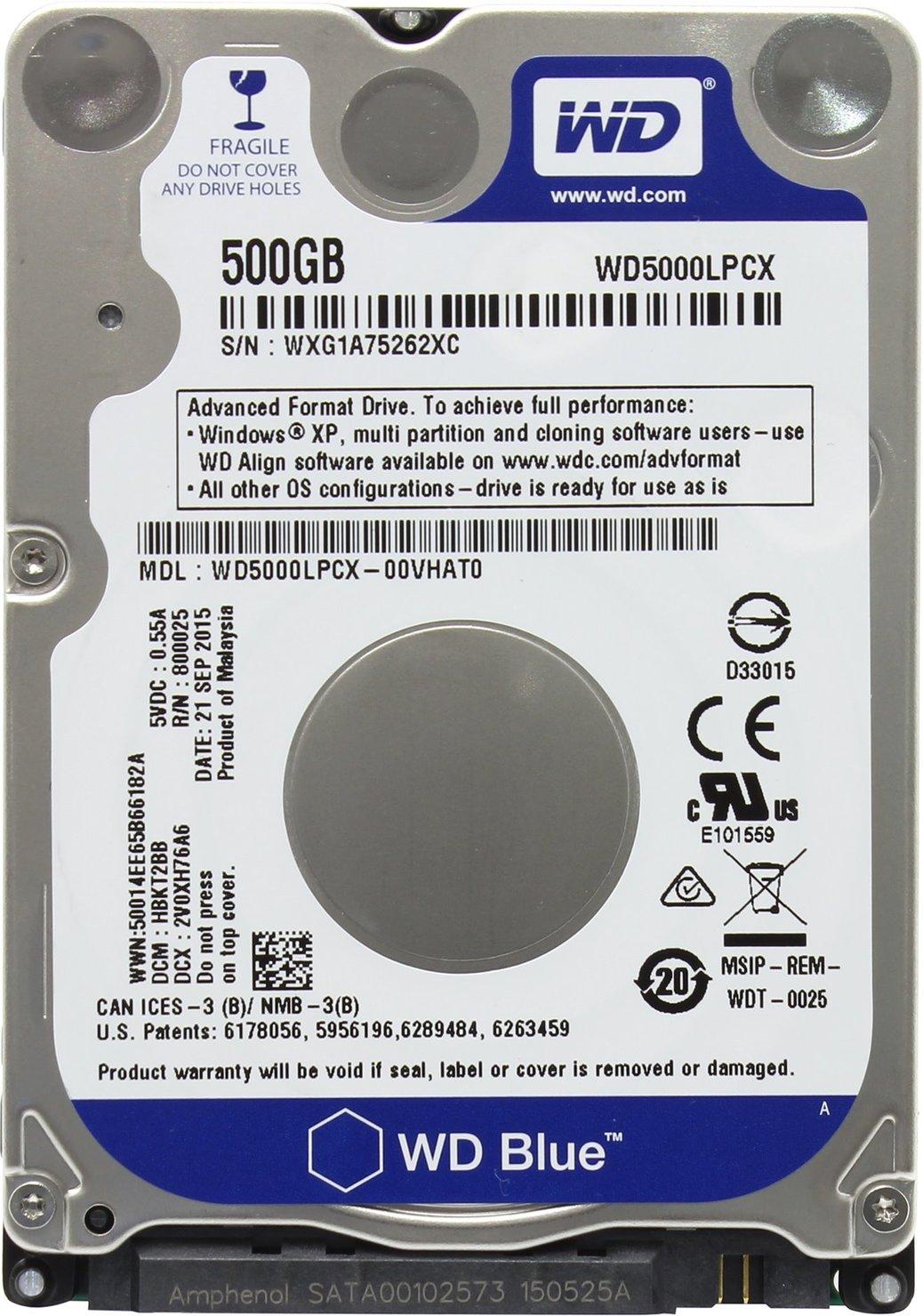 Western Digital WD Blue Mobile 500 GB (WD5000LPCX)